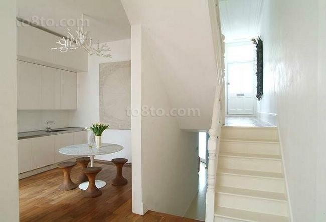 现代风格也有很清新的走廊装修图片