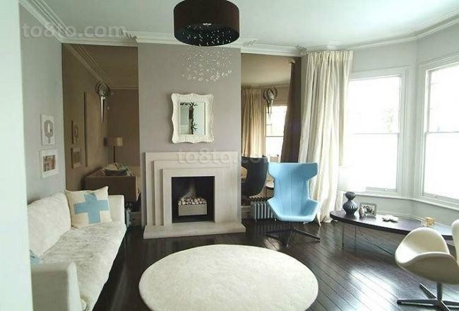 现代风格也有很清新的客厅装修图片