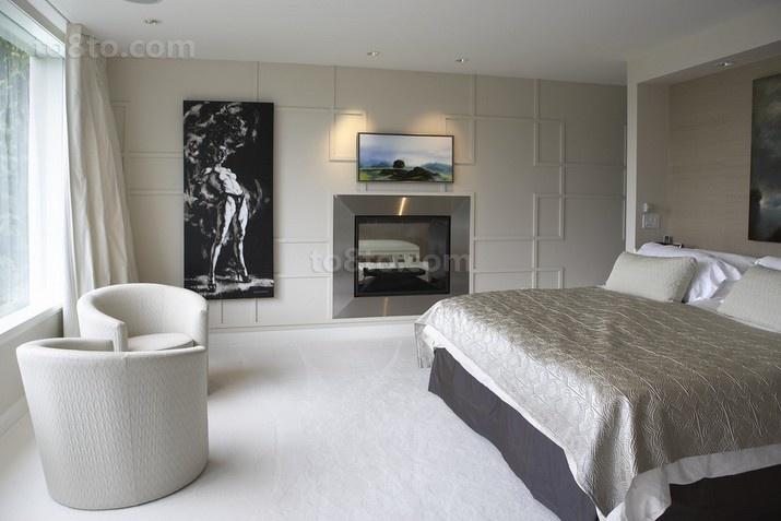 简单的奢华后现代装修风格卧室图片