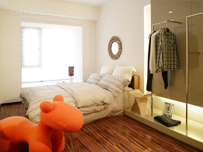 清新的现代风格卧室装修效果图