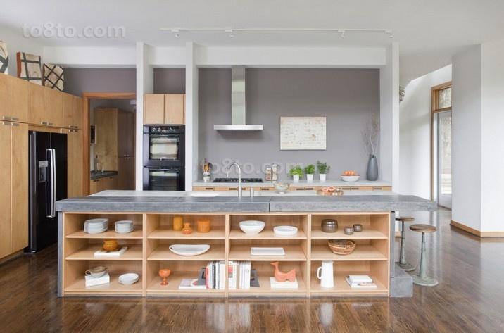 含有中式元素的现代风格整体橱柜效果图