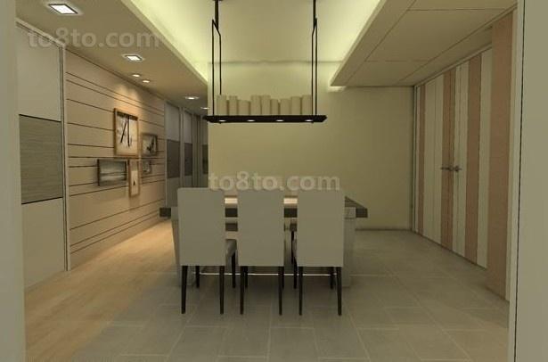 现代简约二居室餐厅装修效果图大全2014图片