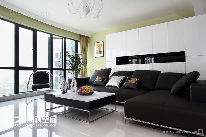 小户型现代简约风格客厅装修效果图大全2014图片