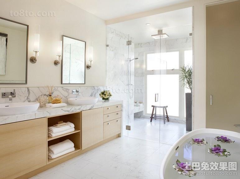 复式楼干净的卫生间装修效果图大全2014图片