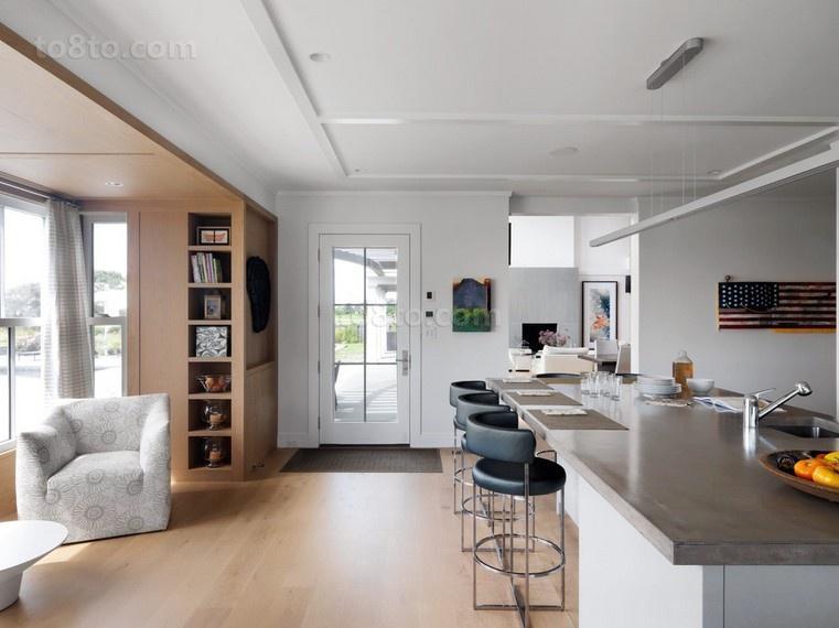 具有很强的原木气息美式风格厨房装修效果图