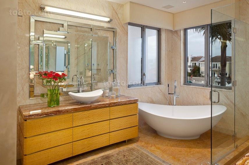 浪漫的三房两厅卫生间装修效果图大全2012图片