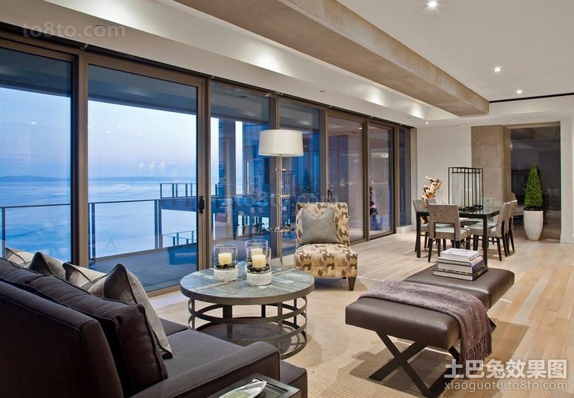 很时尚的海景房现代风格客厅装修效果图
