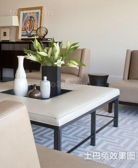 简朴中带着华丽的现代风格客厅修效果图