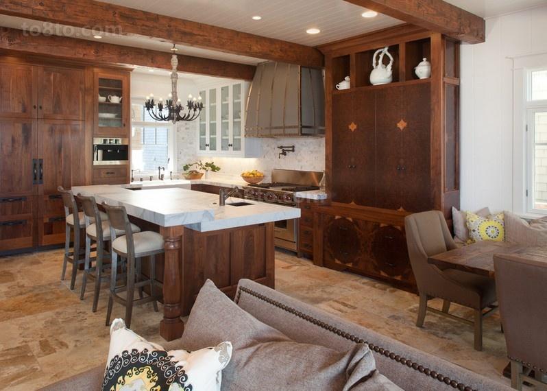 欧式复式楼厨房装修效果图大全2014图片