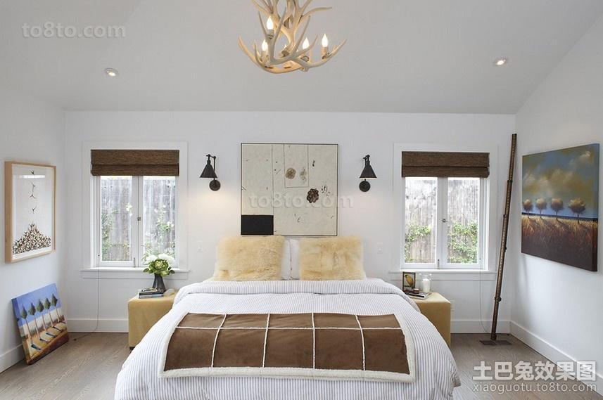 感觉很现代的欧式风格卧室装修效果图大全2014图片