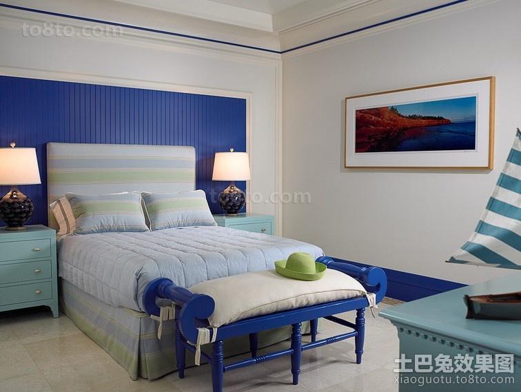 北欧清新的卧室装修效果图大全2014图片