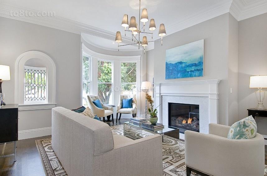 白白的简约风格装修客厅图片