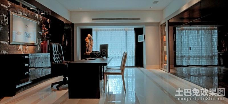 黑色宁谧的四居室书房装修效果图大全2012图片