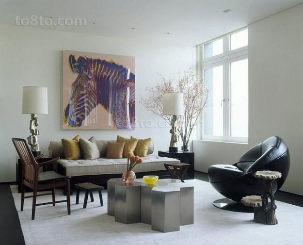 含有很强中式元素的简约风格客厅装修效果图