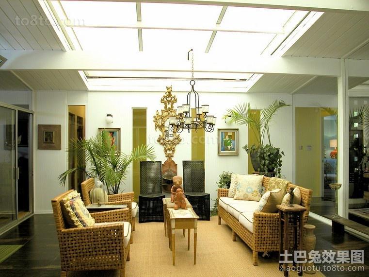 藤艺编织的客厅装修效果图大全2014图片