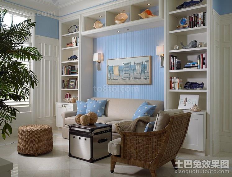 北欧清新的客厅装修效果图大全2014