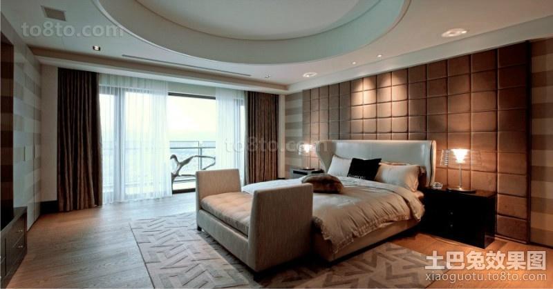 巧克力背景墙的卧室装修效果图大全2012图片