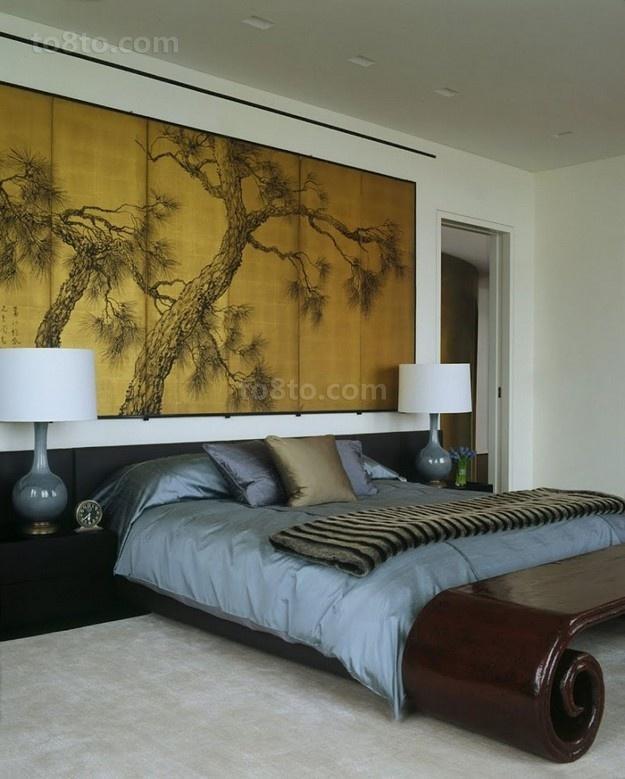 含有很强中式元素的简约风格卧室装修效果图