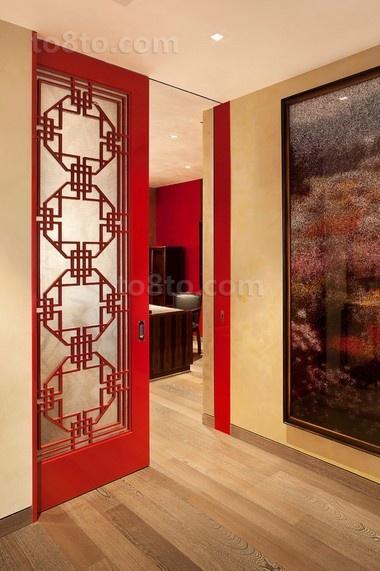 浪漫的三房两厅玄关装修效果图