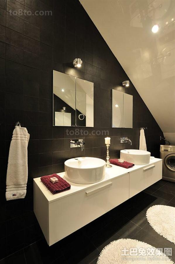 时尚的现代装修风格卫生间图片