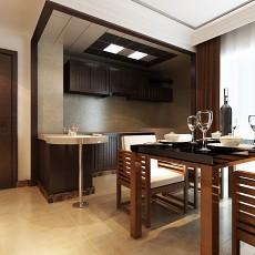 热门106平米三居餐厅中式效果图片