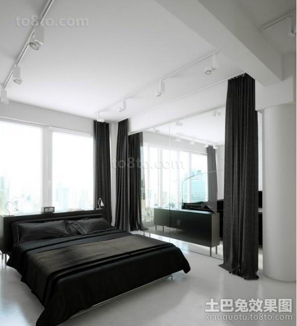 黑与白的对比后现代装修风格卧室效果图