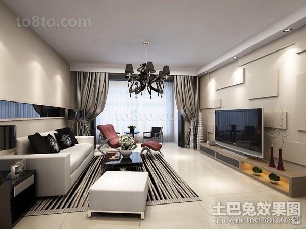 客厅电视背景墙装修效果图案例