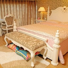 精美96平米三居卧室混搭装修实景图