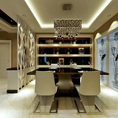 现代餐厅酒柜效果图