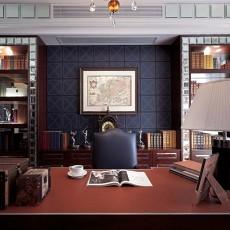 精选100平米三居书房美式装修效果图片欣赏