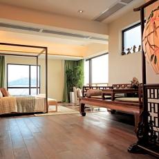 128平米中式复式卧室装修实景图片欣赏