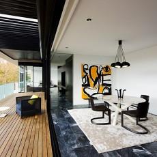 面积124平别墅餐厅现代装修设计效果图片欣赏