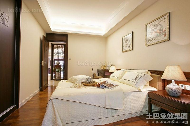 中式四居室古典美卧室装修效果图大全2012图片