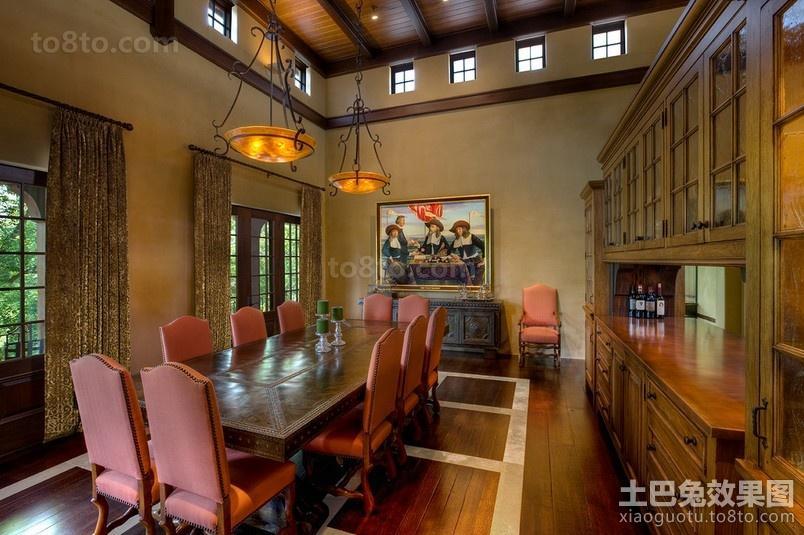 经典美式奢华的餐厅装修效果图大全2012图片