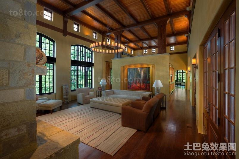 经典美式奢华的客厅装修效果图大全2012图片