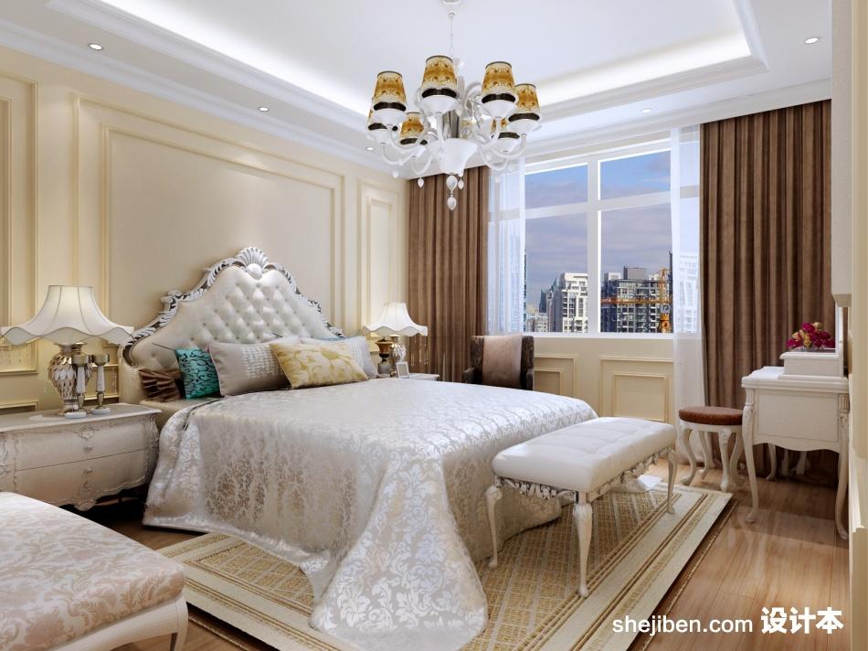 精选110平米四居卧室混搭装修设计效果图片欣赏