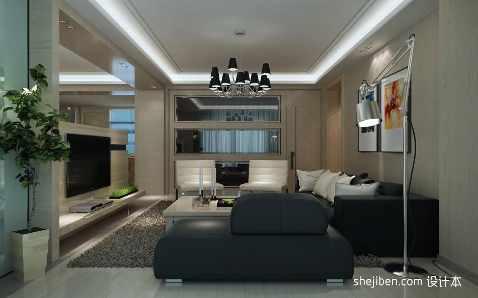 雅韵中式风格卧室电视背景墙装修效果图