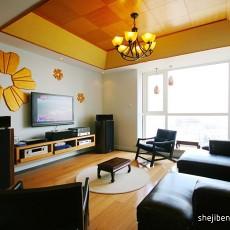 精选面积91平现代三居客厅设计效果图