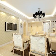 热门面积117平复式客厅混搭装修效果图
