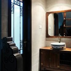 中式风格家装卫生间装修效果图欣赏