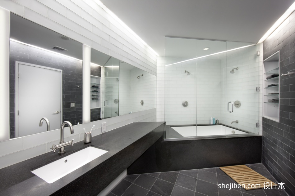 复式楼主卫生间洗手盆装修效果图片
