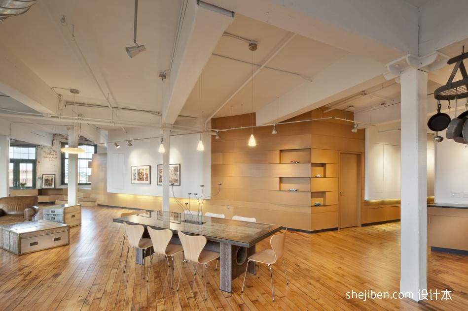 复式住宅设计现代开放式餐厅装修效果图