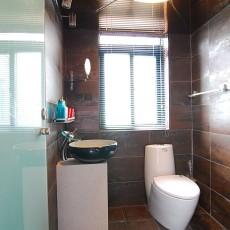 面积128平复式卫生间混搭装饰图