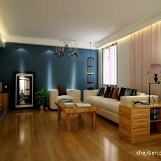 热门面积135平复式客厅混搭效果图片大全