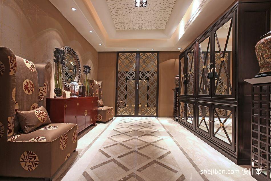 东南亚风格客厅玄关装修效果图