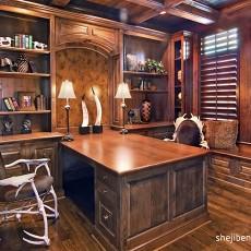 精美127平米欧式别墅书房装修实景图片大全