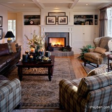 精选大小124平别墅客厅混搭实景图片欣赏
