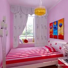 热门105平米三居儿童房混搭装修效果图片