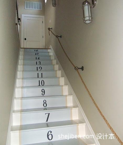 2017現代風格別墅室內精品木質樓梯護欄裝修效果圖