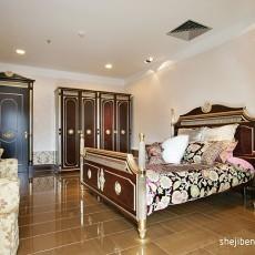 99平米三居卧室欧式实景图